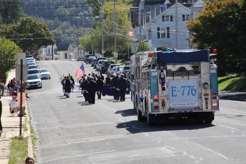 Parade for New Fire Station, Pumper Truck, Boat, Lehighton Fire Department, Lehighton (299)