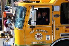 Parade for New Fire Station, Pumper Truck, Boat, Lehighton Fire Department, Lehighton (355)