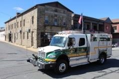 Parade for New Fire Station, Pumper Truck, Boat, Lehighton Fire Department, Lehighton (370)