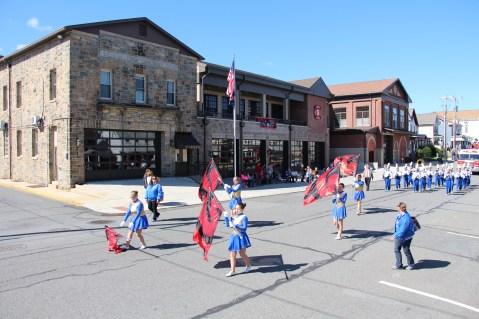 Parade for New Fire Station, Pumper Truck, Boat, Lehighton Fire Department, Lehighton (375)