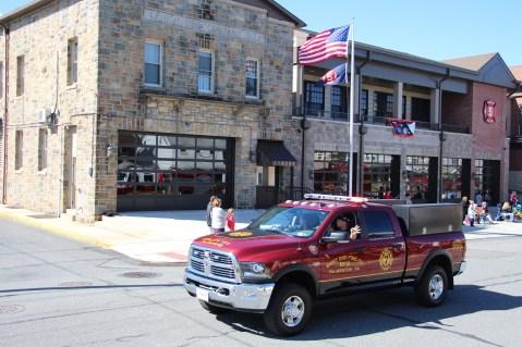 Parade for New Fire Station, Pumper Truck, Boat, Lehighton Fire Department, Lehighton (419)