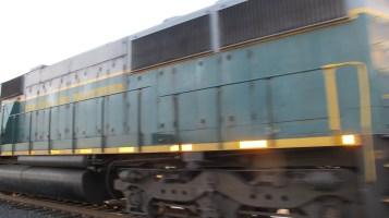 Train Passing in front of Tamaqua Train Station, Tamaqua, 9-15-2015 (2)