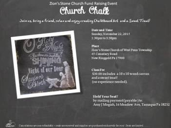 11-22-2015, Church Chalk Fundraiser, Zion's Stone Church, West Penn