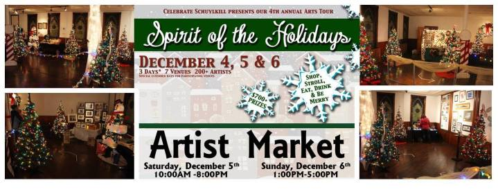 12-5, 6-2015, Artist Market, Spirit of Christmas, Tamaqua Community Arts Center, Tamaqua