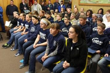 Junior High Football Team Recognized, Tamaqua Borough Council Meeting, Borough Hall, Tamaqua (6)