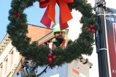 Putting Up 70 Or So Christmas Decorations, Street Department, Downtown Tamaqua, 11-25-2015 (7)