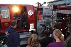 Tamaqua Salvation Army Youth Group Visits South Ward Fire Company, Tamaqua, 10-8-2015 (2)