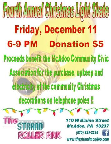 12-11-2015, Christmas Light Skate Event, at Strand Roller Rink, McAdoo