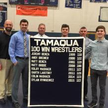 New Tamaqua Wrestling Banner, 11 Wins, TASD Auditorium, Tamaqua