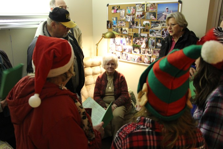 Parishioners of St John UCC in Tamaqua Go Caroling, St Luke's Hospital, Coaldale, 12-20-2015 (10)