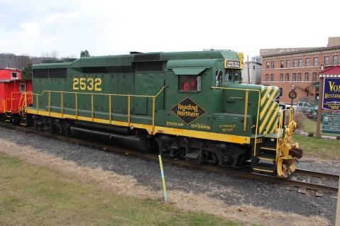 Santa Train Rides, via Tamaqua Historical Society, Train Station, Tamaqua, 12-19-2015 (110)