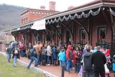 Santa Train Rides, via Tamaqua Historical Society, Train Station, Tamaqua, 12-19-2015 (50)