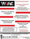 8-5-2017, August Open House, at Walk In Art Center, Schuylkill Haven
