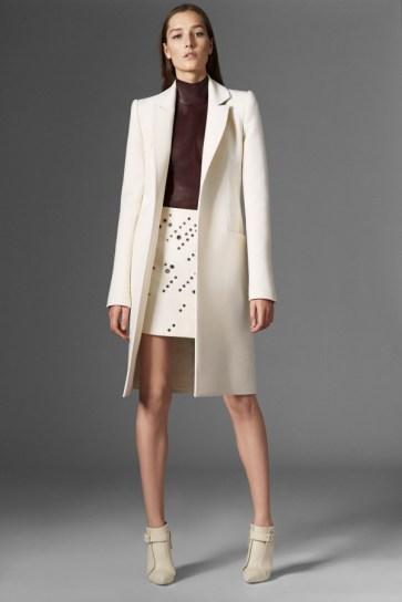 Mugler Cream Coat - Pre-Fall 2015