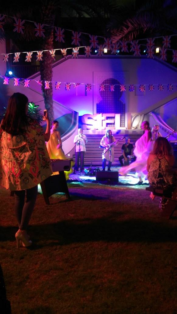 Tamara Al Gabbani enjoying the Stella McCartney show