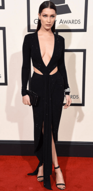 Bella Hadid - in Alexandre Vauthier Couture - Grammys 2016