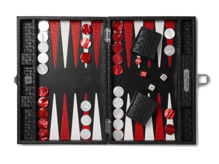 Hector Saxe - Leather Backgammon Set