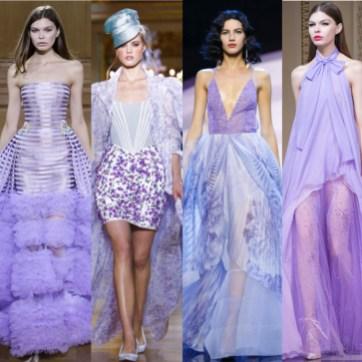 Paris Couture Week S/S16 - Violet trend