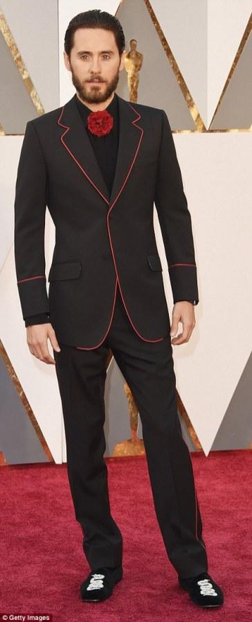 Jared Leto - in Gucci - Oscars 2016