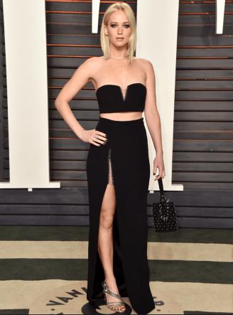 Jennifer Lawrence - in Alexander Wang - Vanity Fair Oscars Party 2016