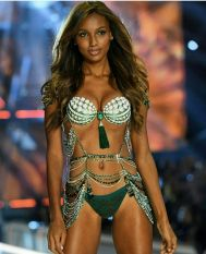 Jasmine Tookes Wearing the fantasy bra - Victoria's Secret Fashion Show - Paris 2016