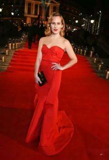 Charlotte Delal in Zac Posen - British Fashion Awards 2016