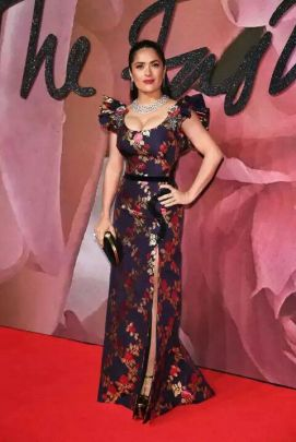 Salma Hayek in Gucci - British Fashion Awards 2016