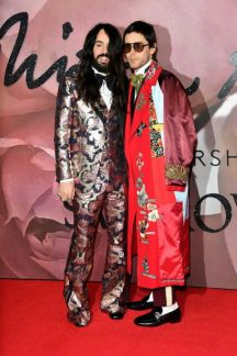 Alessandro Michele and Jared Leto - British Fashion Awards 2016