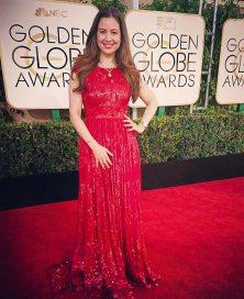 Raya Abirached wearing Aiisha Ramadan Golden Globes 2017