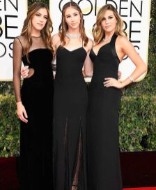 The Stallone Sisters - Sistine Stallone, Scarlet Stallone and Sophia Stallone - ready to host at the Golden Globes 2017