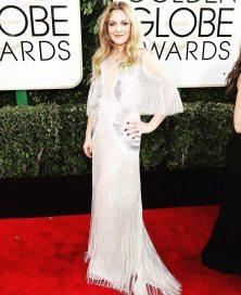 Drew Barrymore in Monique Lhuilier Golden Globes 2017