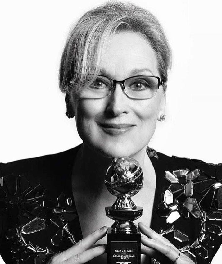 Meryl Streep - won the Lifetime Achievement Cecil B de Mille award - Picture by Mert Alas & Mac Piggott - Golden Globes 2017