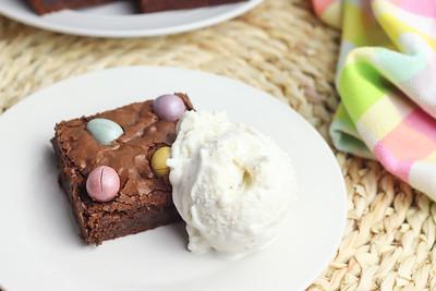 Chocolate Egg Homemade Brownies