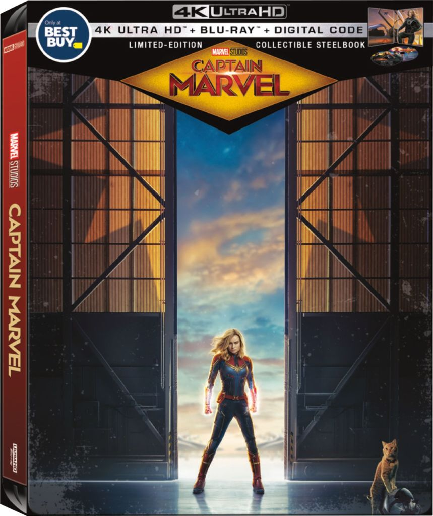 #ad Captain Marvel Exclusive Steel Book is available now, and you can get a copy today at @BestBuy with super cool packaging that is exclusive to Best Buy!