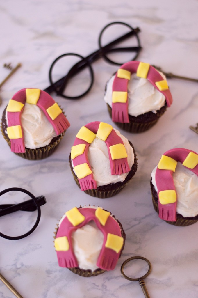 These Gryffindor Cupcakes from Harry Potter are perfect for a Harry Potter lover! Make them as Gryffindor, or use different colors for other Hogwarts houses