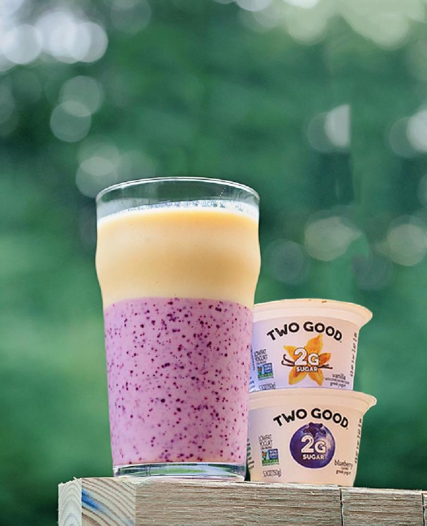My delicious layered blueberry mango smoothie recipe is just what you need to feel and eat great! Refreshing and full of great ingredients! #ad #dogoodbyyou