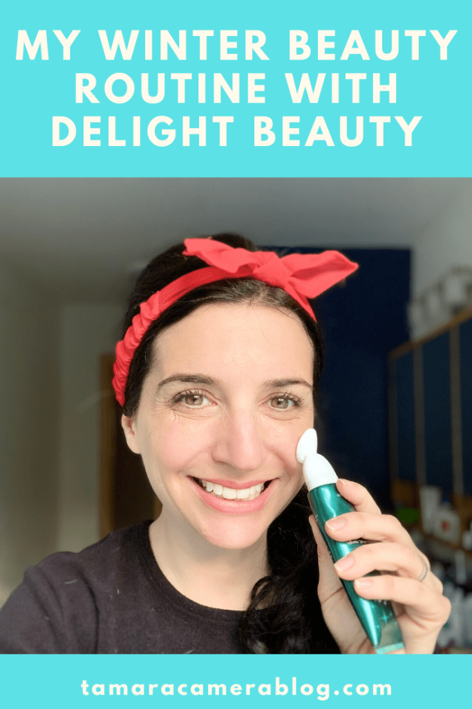 #ad It's important to have a thoughtful winter beauty routine. Here are four products I use and love from the Delight Beauty skincare brand. #DelightBeauty