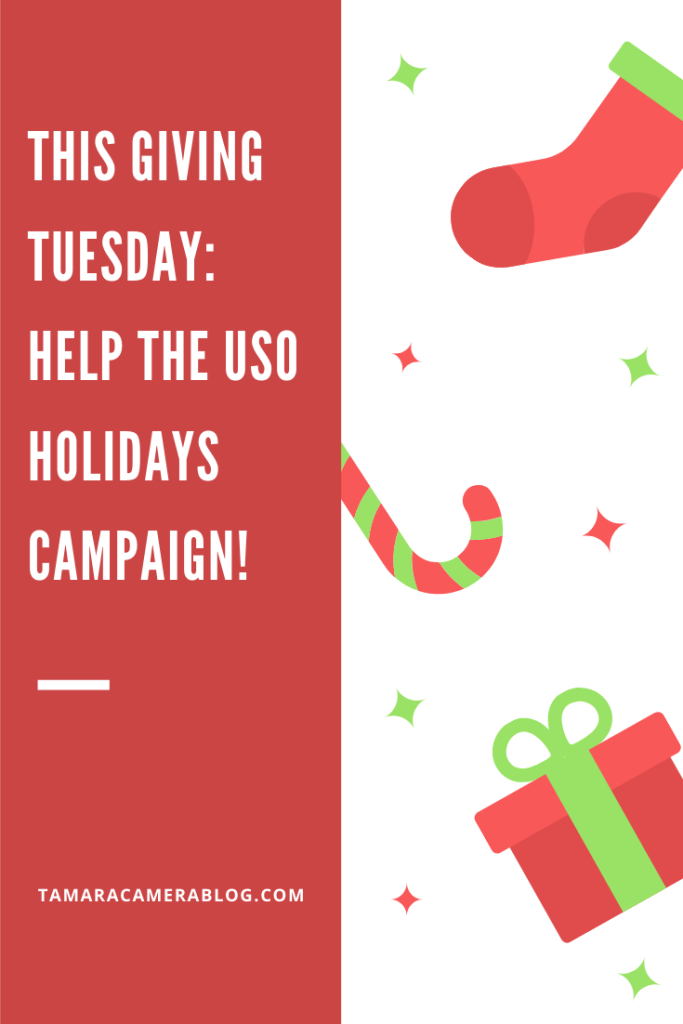 #ad It's Giving Tuesday! Throughout the year our nation's service members are there for us. This is our chance to be there for them this season #USOHolidays