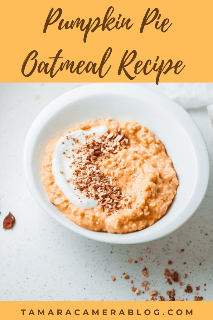 Pumpkin Pie Oatmeal is the stuff of fall breakfast dreams. This will warm you right up and is also perfect to make around the fall holidays.