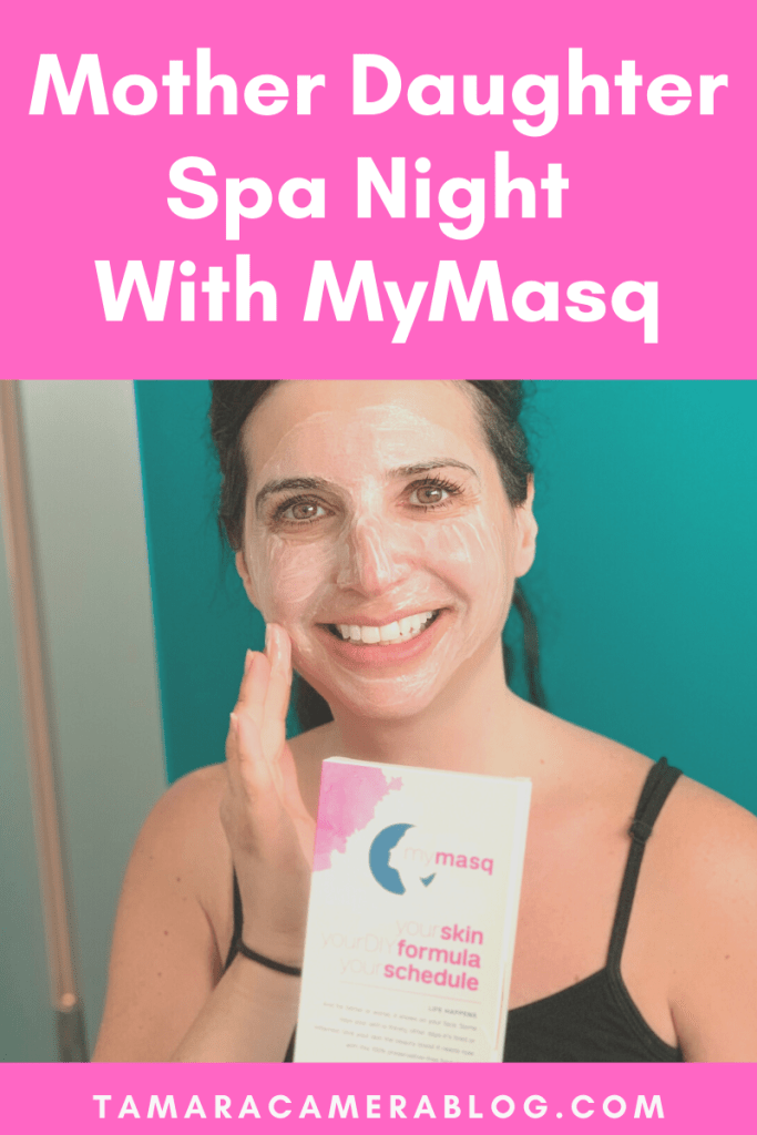 #ad Have a Mother Daughter Spa Night with DIY Skincare from #MyMasq to treat a variety of common skin issues. I chose brightness! @MyMasq #IC