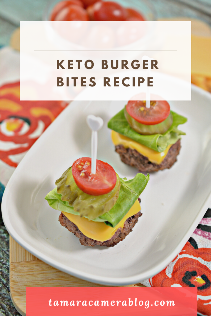 Keto Burger Bites are a carb-friendly, ultra easy and tasty dish that is sure to be a crowdpleaser all summer long at your parties and BBQs.