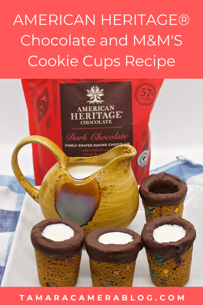 This M&M's Cookie Cups recipe is fun to bake together for back to school, and is fun to eat together too. It uses #AMERICANHERITAGEChocolate #IC