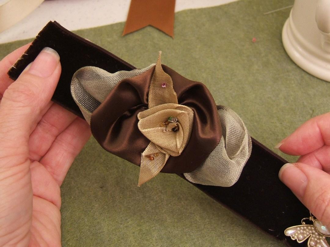 Ribbon Rose Corsage