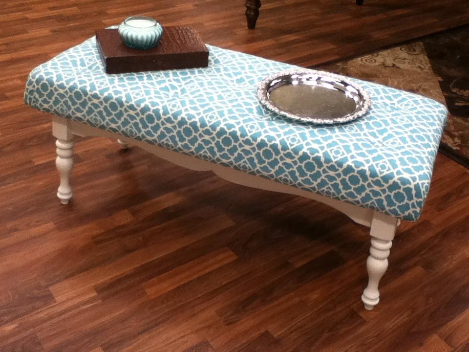 Coffee Table Ottoman DIY