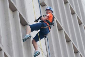 Participants that raise money for Gilda's Club of South Florida get to rappel down the side of a hotel in Fort Lauderdale this weekend.