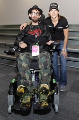 Gerard Materiale and Danica Patrick - Photo courtesy of the Darrell Gwynn Foundation,