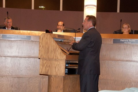 BSO Sheriff Scott Israel speaks at the City of Tamarac City Commission Meeting