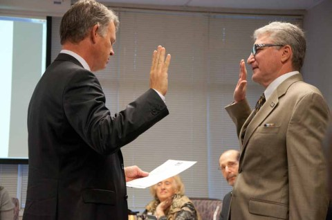 Swearing in by City Manager Michael Cernech