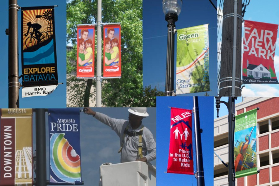 Streetscape banners around the country. They typically boast, or entice passerbys about what makes their city so special.