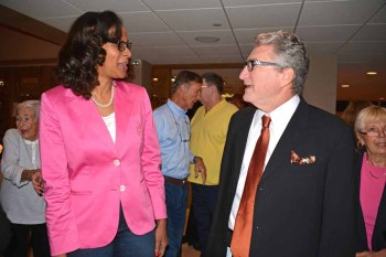 Rosalind Osgood pictured here with Tamarac Mayor Harry Dressler - Photo by Tamarac Talk